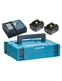 Makita Powerpack hurtiglader, 2x4Ah batterier i koffert DC18RC