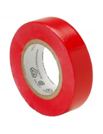 Elektrotape rød 19mm x20m PVC