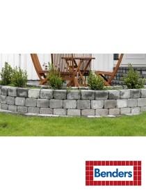 Kantstein 21x14x14cm mur blokk Labyrint Mini tromlet gråmix