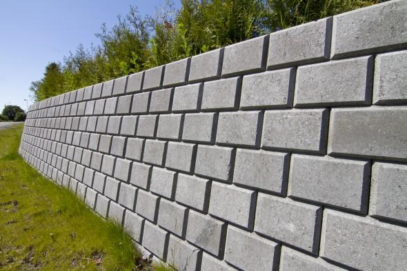 Bilde av Miniblokk 25x28x17cm Helblokk Grå