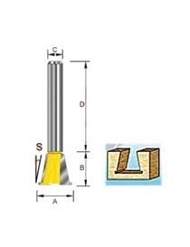 Sinkfres med bunnspor S8 14,3/12,7x13mm fresestål
