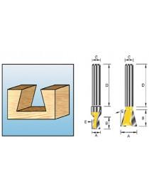 Sinkfres S8 12,7x12,7mm fresestål