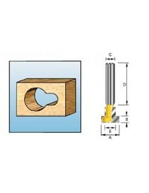 Nøkkelhullfres S8 9,5x4,76mm fresestål