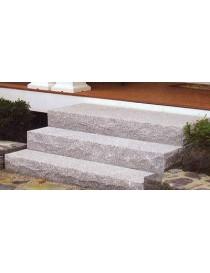 Trappetrinn 1200x370x140mm grov front og sider
