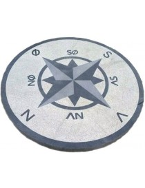 Kompassrose i granitt Ø80cm 4 punkter - N-S-V-Ø