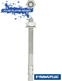M8x50/5 VZ ekspansjonsbolt R-XPT varmgalvanisert