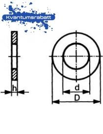 Skive M6 DIN 125A ST VZ varmgalvanisert