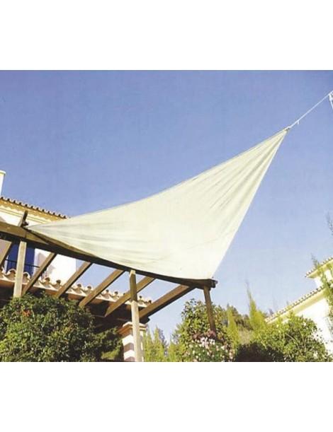 Solseil 3,6m trekant offwhite