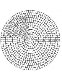 Sirkelstein stor 14x14x10.5x5cm gråmix Troja / Labyrint