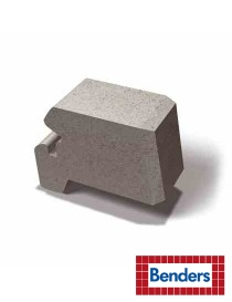 Miniblokk halvblokk 12,5x28x17cm grå