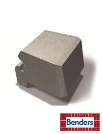 Miniblokk kurveblokk 25x28x17cm grå bue