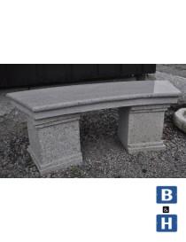 Benk Antikk buet 120cm med profil