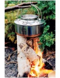 Bålkjele 4 liter i rustfritt stål med kobberbunn