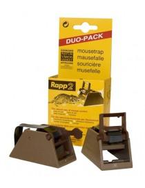 Musefelle Rapp 2 stk plastfeller