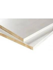 18x600x2400 hobbyplate hvitmalt bomull kvistfri