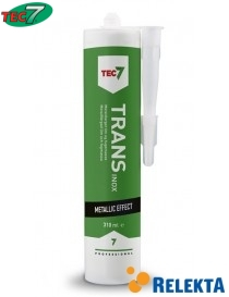 Tec7 klar metallisk fugemasse og lim Trans Inox 310ml