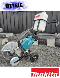 UTLEIE - Kappmaskin for stein og asfalt med tralle og vannbeholder