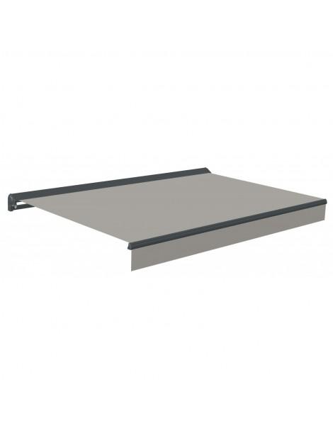 Markise terrassemarkise 480cm grå/taupe