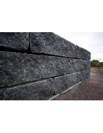 80x80cm blokk i Larvikitt granitt støttemur