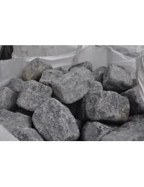Brostein Larvikitt storgatestein 14x14x20cm tromlet granit