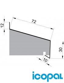 Vindusbeslag UNDER vindu 72-2000mm