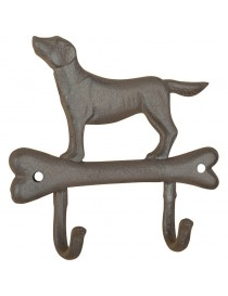 Krok for vegg, dobbel med stående hund på hundebein