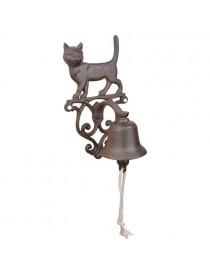 Dørbjelle stående katt, støpejern