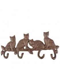 Krok for vegg x4 sittende katter