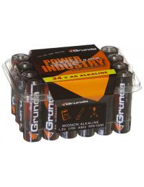Batterier AA LR06 1.5V BIG-PACK 24 stk Grunda
