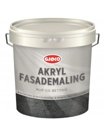 Akryl fasademaling mur og betong Base A 2.7L Gjøco