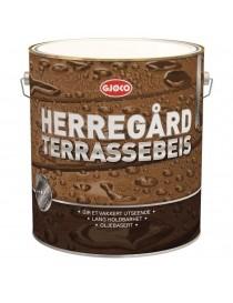 Herregård Olje Terrassebeis Base Gul 9L Gjøco