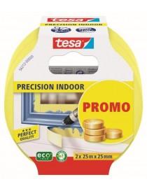 Maskeringstape Precision 2-pack 25mm x 25m Gul Tesa®