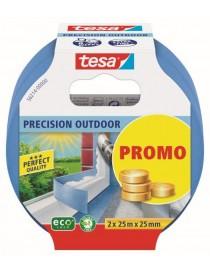 Maskeringstape Precision 2-pack 25mm x 25m Blå Tesa®