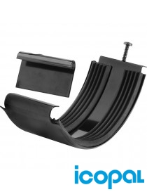 Renneskjøt 40 stål 125mm sort Icopal