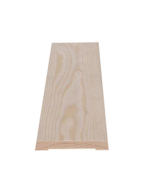 10x58 karmlist Skrå skarp ubehandlet furu