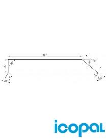 Vindskibeslag 2m stål HBP belegg VKS-8 Icopal